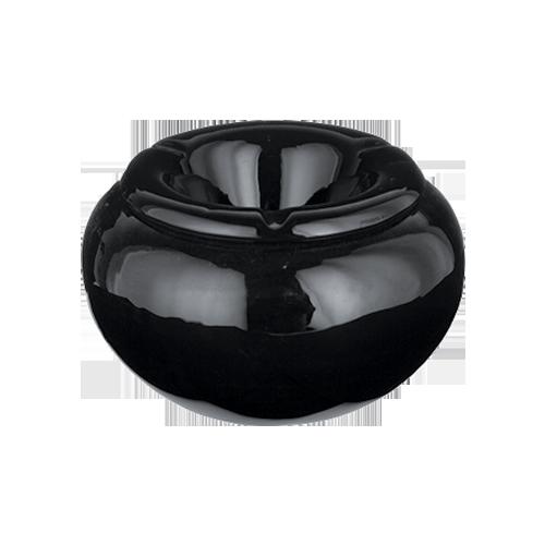 ashtrayceramicwindproofblacklargeround40228