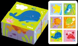 4pc 6-side cube puzzle