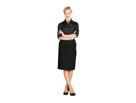 Arabella Ladies Below Knee Skirt - black