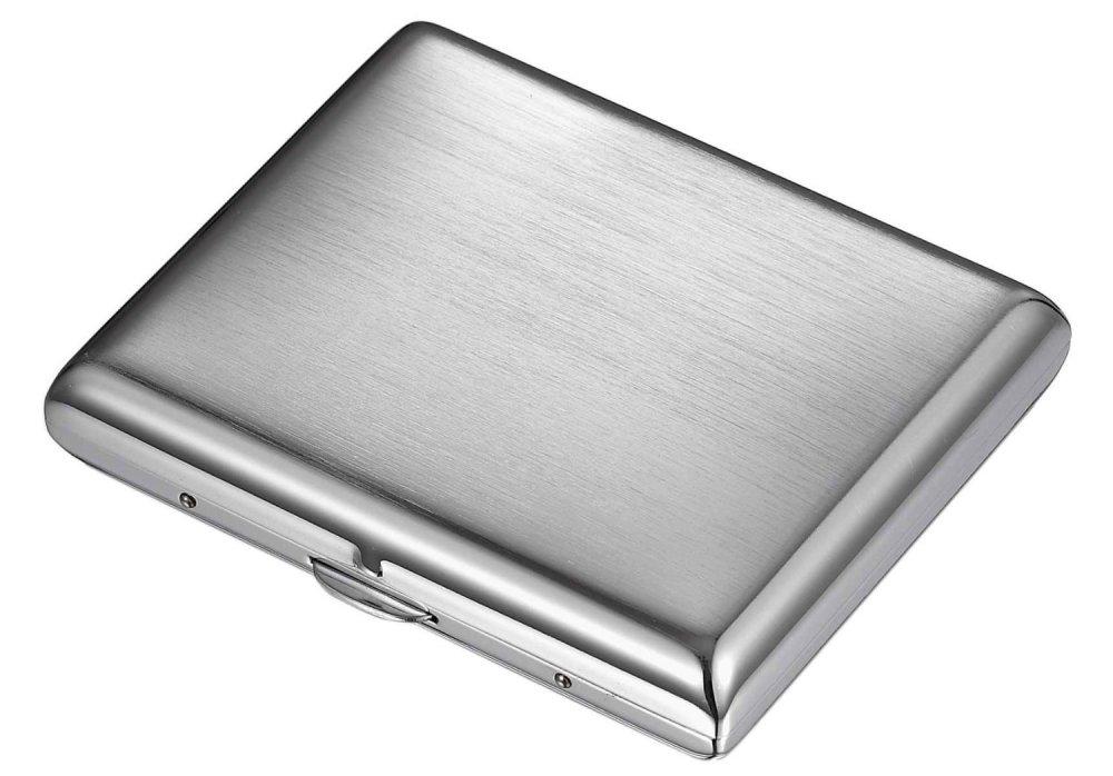 Cigarette Case - Brush Chrome 20s - 80044