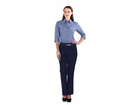 Erin Ladies Flat Front Pants - navy