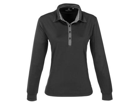 Ladies Long Sleeve Pensacola Golf Shirt - black