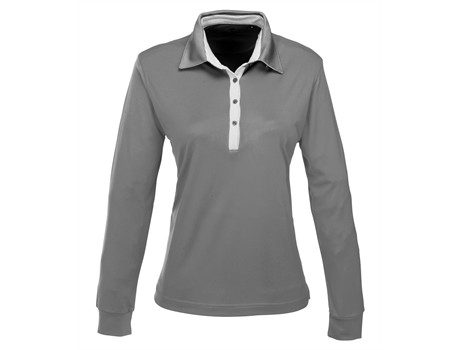 Ladies Long Sleeve Pensacola Golf Shirt - grey