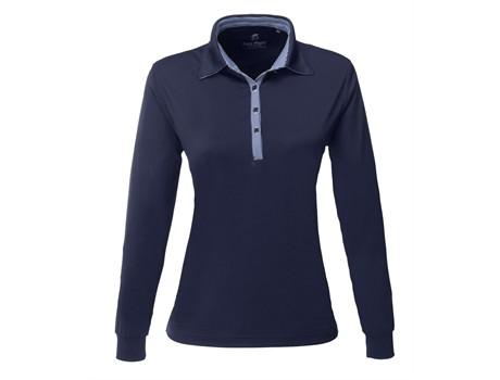 Ladies Long Sleeve Pensacola Golf Shirt - navy