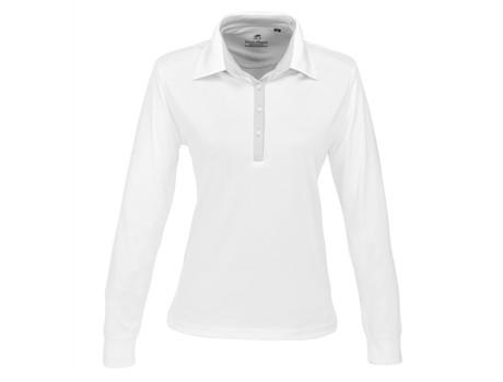 Ladies Long Sleeve Pensacola Golf Shirt - white