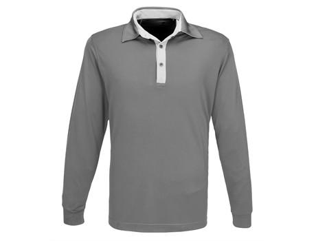 Mens Long Sleeve Pensacola Golf Shirt - grey