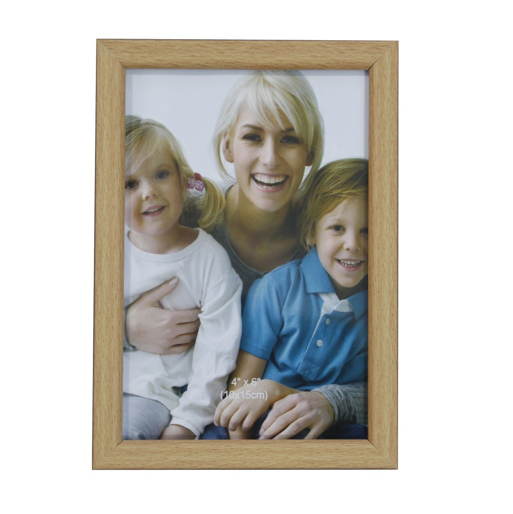 Wood look photo frame