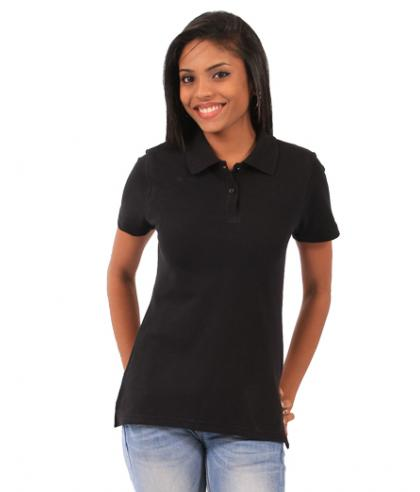 Ladies Fitted Polo - black