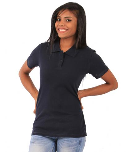 Ladies Fitted Polo - navy