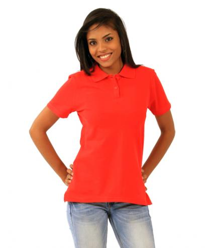 Ladies Fitted Polo - red