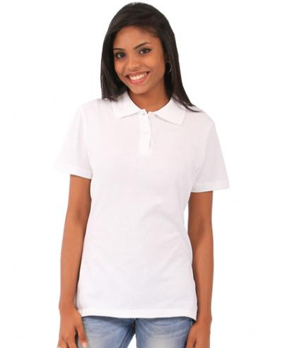 Ladies Fitted Polo - white