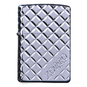 Zorro Lighter - Silver Square Engraving