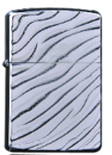 Zorro Lighter - Silver Wave Engraving