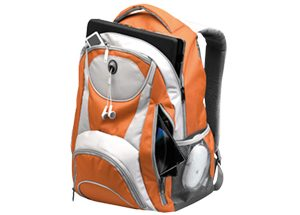 Adventure laptop backpack - orange