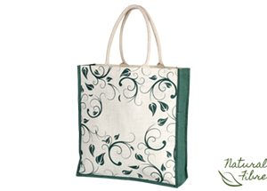 ONE-EARTH BLOOM NATURAL FIBRE BAG - green