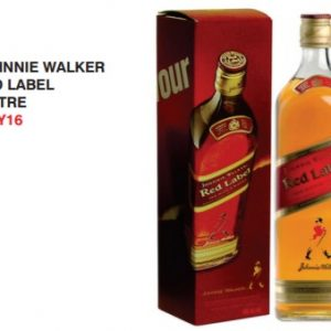Johnny Walker red label 1 L
