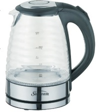 Sunbeam Ribbed Glass Kettle