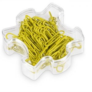 Puzzle Paper Clips - yellow