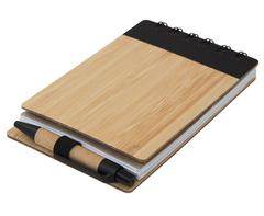 Wood Pocket Notepad, Sticky Memo & Pen