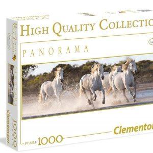 Running horses panorama