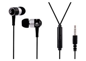 VOLKANO EARPHONES WITH MIC - STANNIC SERIES - black