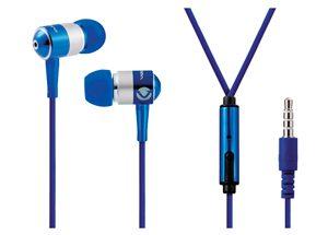 VOLKANO EARPHONES WITH MIC - STANNIC SERIES - blue