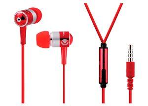 VOLKANO EARPHONES WITH MIC - STANNIC SERIES - red