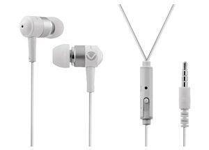 VOLKANO EARPHONES WITH MIC - STANNIC SERIES - white