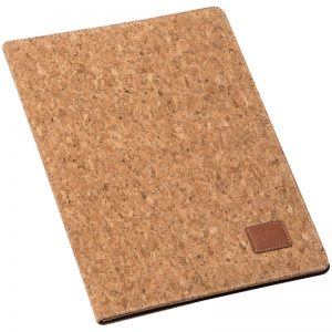 A4 CORK FOLDER WITH PAD AND PEN