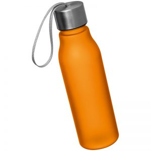 DRINKING BOTTLE WITH METAL SREW TOP - oranage