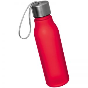 DRINKING BOTTLE WITH METAL SREW TOP - red