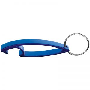 KEYCHAIN WITH BOTTLE OPENER - blue