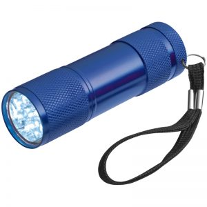 TORCH WITH 3 BATTERIES IN A BOX - blue