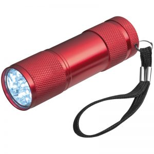 TORCH WITH 3 BATTERIES IN A BOX - red